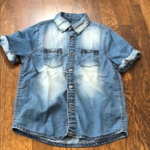 Mayoral boys chambray button down